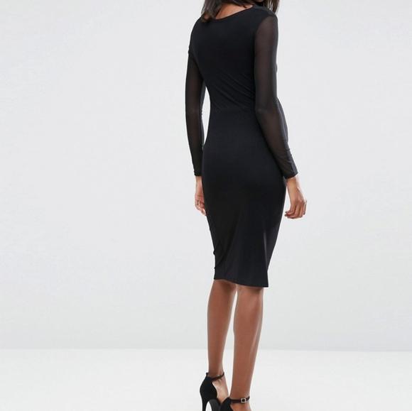 ASOS Maternity mesh long sleeve bodycon dress